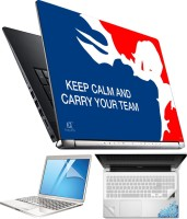FineArts Keep Calm 4 in 1 Laptop Skin Pack with Screen Guard, Key Protector and Palmrest Skin Combo Set(Multicolor)
