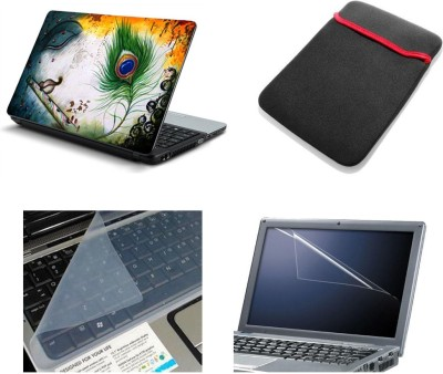 Namo Art 4in1 Laptop Skins with Laptop Sleeve, Screen Guard and Key Protector HQ1064 15.6 Inch Combo Set