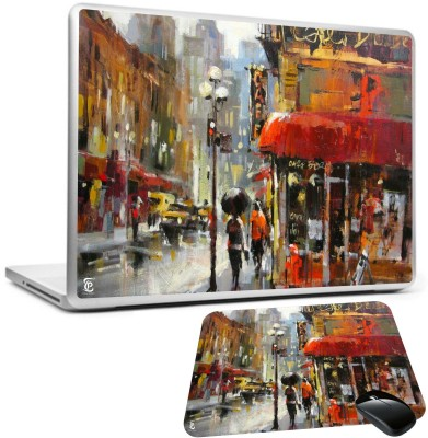 Print Shapes City street rain painting Combo Set