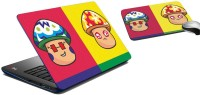 meSleep Boy Girl Face Laptop Skin and Mouse Pad 115 Combo Set best price on Flipkart @ Rs. 299