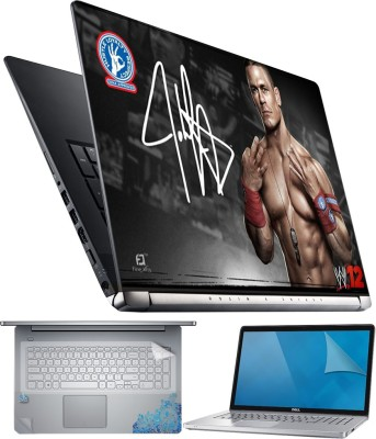 FineArts John Cena W12 4 in 1 Laptop Skin Pack with Screen Guard, Key Protector and Palmrest Skin Combo Set