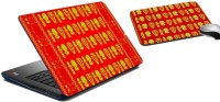 meSleep Red Multi Face Laptop Skin and Mouse Pad 180 Combo Set best price on Flipkart @ Rs. 299