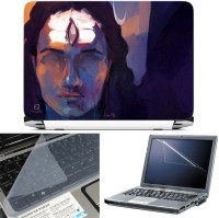 FineArts Lord Shiva Painting 3 in 1 Laptop Skin Pack With Screen Guard & Key Protector Combo Set(Multicolor)