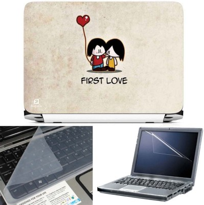 FineArts First Love 3 in 1 Laptop Skin Pack With Screen Guard & Key Protector Combo Set
