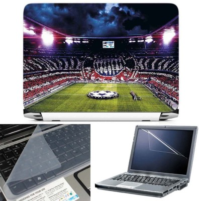 FineArts Allianz Arena 2 3 in 1 Laptop Skin Pack With Screen Guard & Key Protector Combo Set