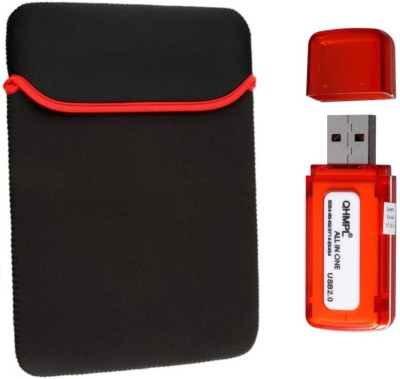 LEXEL 15.6 Inch Imported High Quality Soft Neoprene Sleeve With ALL in One Card Reader Combo Set