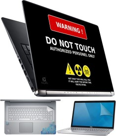 FineArts Do Not Touch 4 in 1 Laptop Skin Pack with Screen Guard, Key Protector and Palmrest Skin Combo Set