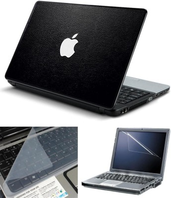 Print Shapes Black Leather Apple Combo Set