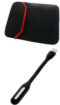 Onlinemart 10 Inch Laptop Sleeve & Flexible USB LED Light Combo Set