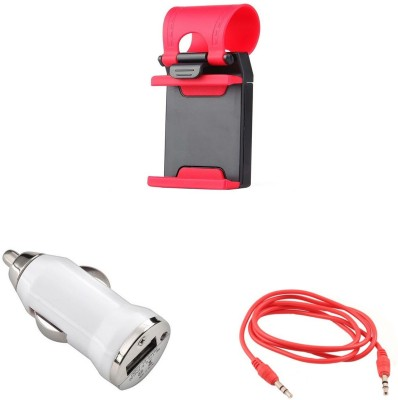 Bigkik Steering Stand+ Car Charger+ Aux Cable Combo Set