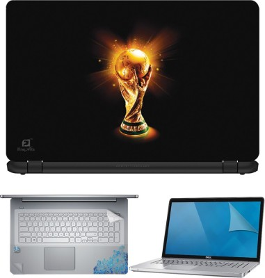 FineArts World Cup 4 in 1 Laptop Skin Pack with Screen Guard, Key Protector and Palmrest Skin Combo Set