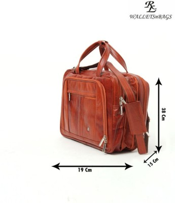 Walletsnbags 15 inch Expandable Laptop Messenger Bag