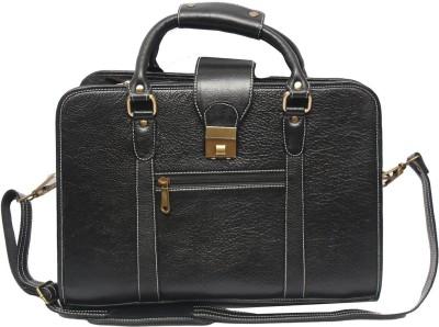 C Comfort Black ELo4 Medium Briefcase - For Men