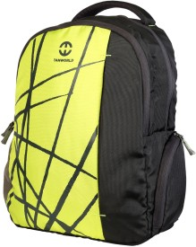 TANWORLD 15 inch Expandable Laptop Backpack(Black, Yellow)