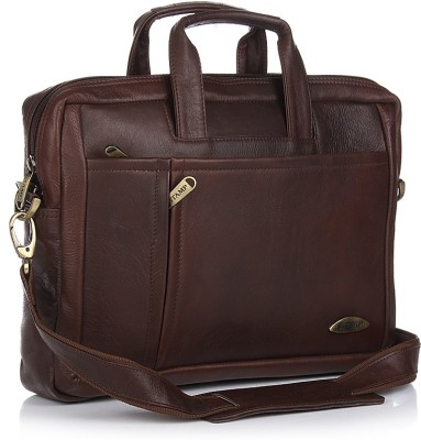 Stamp Leather 10 inch Laptop Messenger Bag