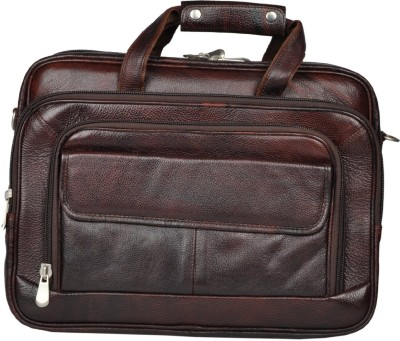 LEATHER COLLECTION 16 inch Expandable Laptop Messenger Bag