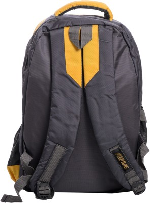 Fashion Bags & Co. 15 inch Laptop Backpack(Black, Yellow)