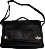 Leather Mall 14 inch Laptop Messenger Ba...