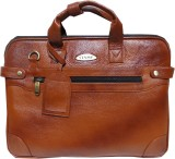 Stamp 14 inch Laptop Messenger Bag (Tan)