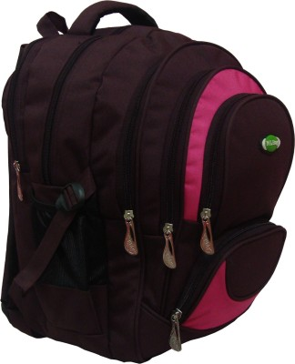 Nl Bags 16 inch Laptop Backpack(Wine, Pink)