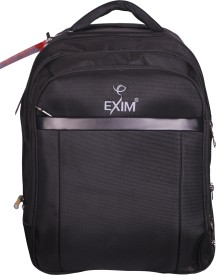 Exim 16 inch Expandable Laptop Backpack(Black)