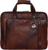 RLE 14 inch Laptop Messenger Bag (Tan)