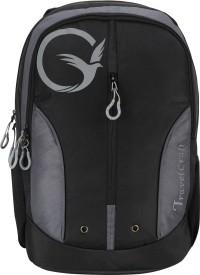 Travelcraft 15 inch Laptop Backpack(Black, Grey)