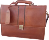 Stamp 17 inch Laptop Messenger Bag (Tan)
