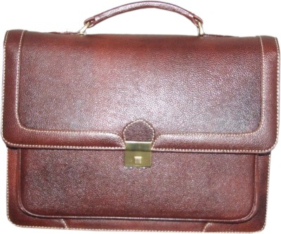Armaan Leather 17 inch Expandable Laptop Messenger Bag
