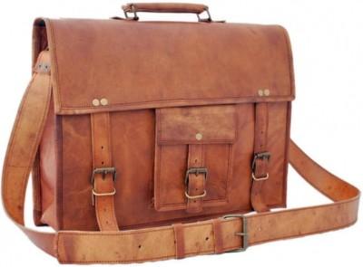 NK Vintage Leather 11 inch, 16 inch Laptop Messenger Bag