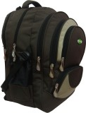 Nl Bags 16 inch Laptop Backpack (Brown, ...