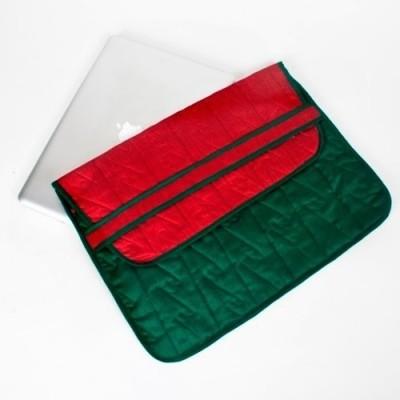 Indha Craft 15 inch Sleeve/Slip Case(Green-05)