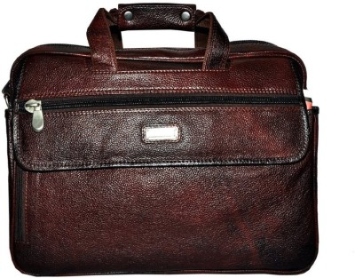 Leather Bags & More... 17 inch Expandable Laptop Messenger Bag