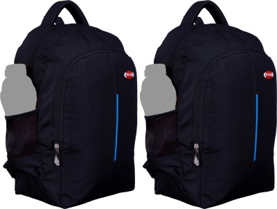 Nl Bags 16 inch Laptop Backpack(Black, sky blue)