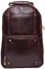 HugMe.fashion 17 inch Laptop Backpack(Brown)