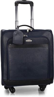 Stamp 17 inch Trolley Laptop Strolley Bag(Blue)