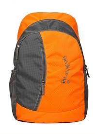 Petrox 15.6 inch Laptop Backpack(Orange, Grey)