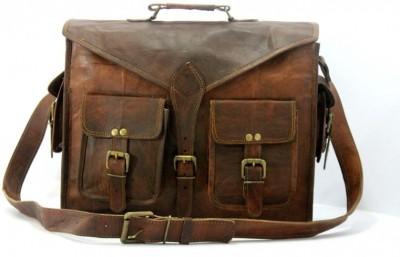 NK Vintage Leather 11 inch, 15 inch Laptop Messenger Bag