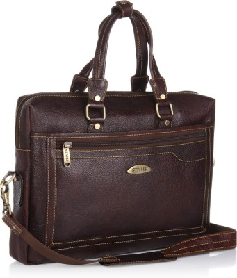Stamp Leather 14 inch Laptop Messenger Bag