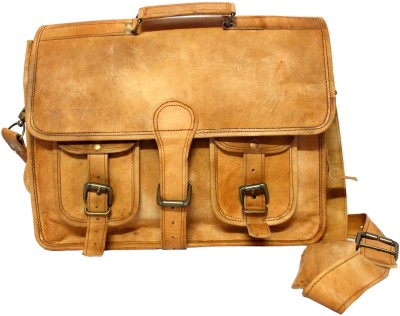 Leather Smith India 15.6 inch Expandable Laptop Case
