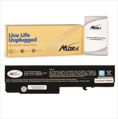Mora Hp Probook 6445b (Long Backup with 3 Year Waranty) 6 Cell Hp Compaq 6735b, 6736b,6930p, 8440p, 8440w, 8530w,6440b Laptop Battery