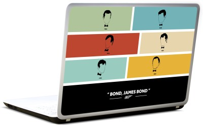 Lab No. 4 James Bond 007 Minimalist Characters Vinyl Laptop Decal 17