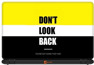 Ownclique Don,t Look Back Vinyl Laptop Decal 14.1
