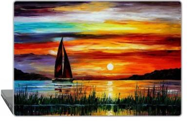Digitek World Skin of Sunset Sea Boat High Quality 3M Vinyl Laptop Decal 15.6