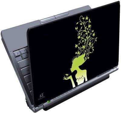 Finest Green Girl Vinyl Laptop Decal