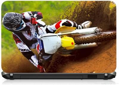 VI COLLECTIONS BIKE DIRT RACER PRINTED VINYL Laptop Decal 15.6