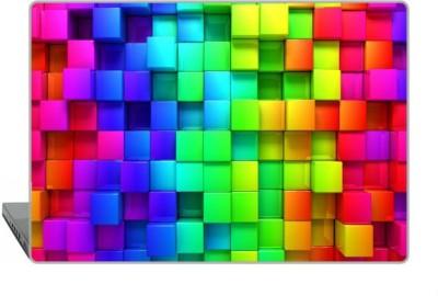 Digitek World Skin of Blocks Rainbow 3D Graphics High Quality 3M Vinyl Laptop Decal 15.6