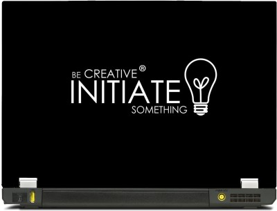 SkinShack New 3D Be Creative Initiate Something Quote (14.1 inch) Vinyl Laptop Decal 14.1