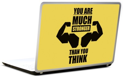 Lab No. 4 You Are Much Stronger Inspirational Quote Vinyl Laptop Decal 17