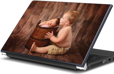 Artifa Boy kissing cute newborn baby Vinyl Laptop Decal 15.6